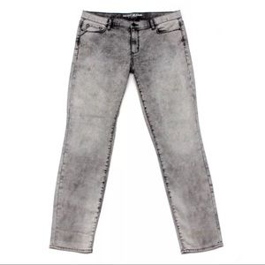DKNY Jeans City Ultra Skinny Jeans Grey Acid Wash